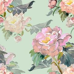 Summer flower seamless pattern