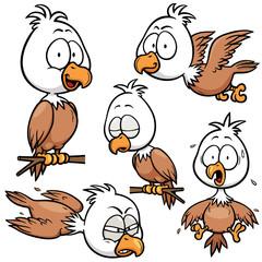 Vector illustration of Cartoon eagle