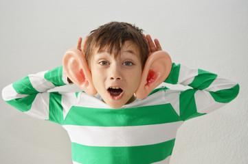 Boy wants to hear something