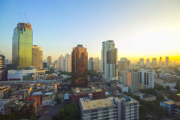 Cityscape view in the morning at Bangkok