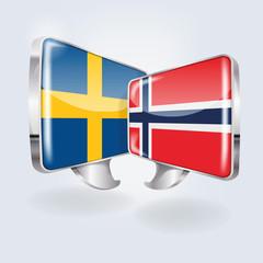 Sprechblasen in schwedisch und norwegisch