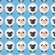 Sheep Pattern.Modern Flat Design Illustration 2