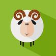 Funny Ram Sheep.Modern Flat Design Illustration variant 1