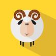 Funny Ram Sheep.Modern Flat Design Illustration variant 2