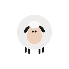 Cute Sheep.Modern Flat Design