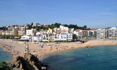 View of the beach of Blanes, Girona, Spain