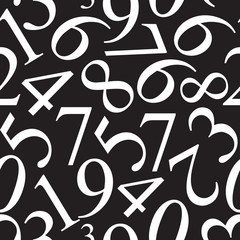 Numbers Seamless Pattern Background Vector Illustration