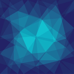 blue background with triangles - vector illustration