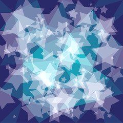 background with stars - vector illustration