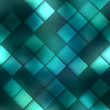 Постер, плакат: Matrix geometric pattern on green background