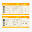 Vector Modern Airline boarding pass tickets - 75576714