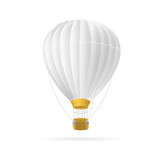 Vector white hot air ballon isolated