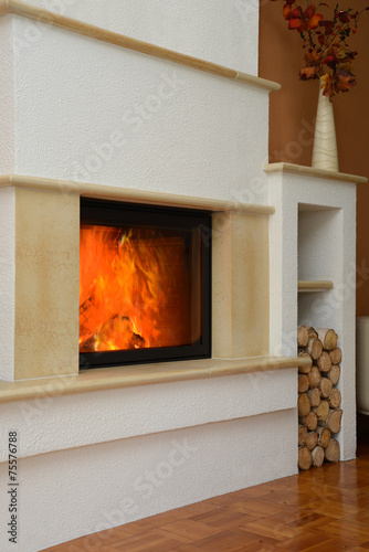 canvas print picture Kamin 22