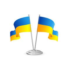 Ukraine vector table flag isolated
