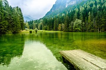Planšar Lake in Jezersko, Slovenia
