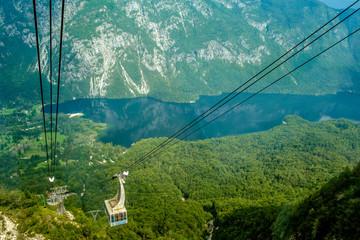 Funicular on Lake Bohinj, Slovenia