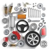 Set of parts of car. - 75577919