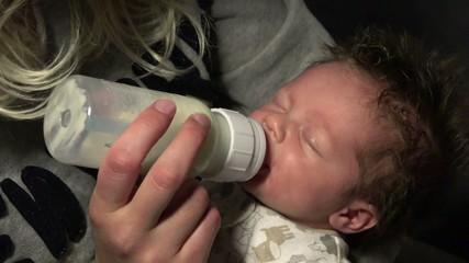 Baby Feeding in Bottle