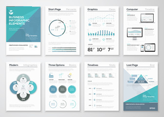Infographic elements for business brochures and presentations