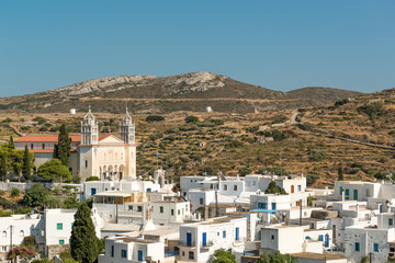 Famous Lefkes village on Paros island, Greece
