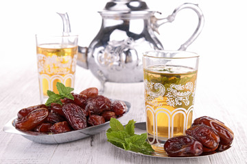 tea and dried date