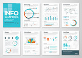 Big set of infographics elements in modern flat business style