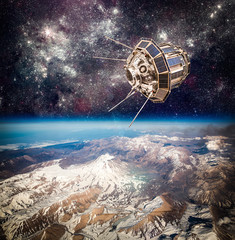 Space satellite Elements of this image furnished by NASA.