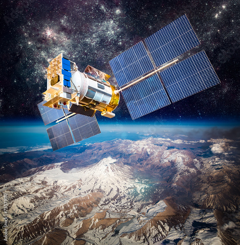 Satelity w przestrzeni kosmicznej