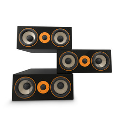 Three Large Stacked Speakers