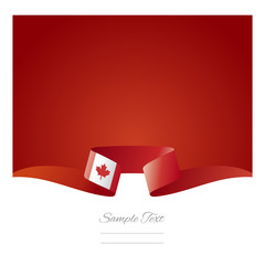 Abstract background Canadian flag ribbon