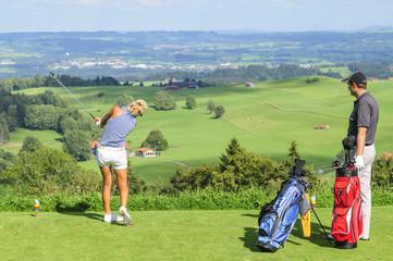 Golfplatz mit Aussicht
