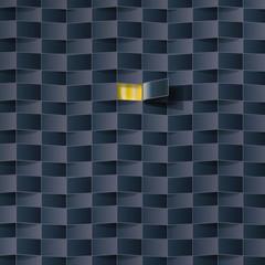 Öffnung in einem schwarzen Muster