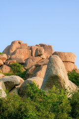 Big boulders in hampi