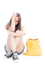 Unhappy teenage girl