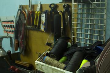 shoes reparing workshop