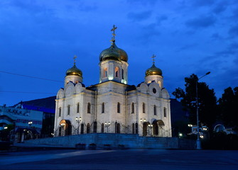 Russia. Pyatigorsk. View of the Savior Cathedral, healed the par
