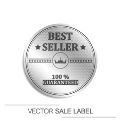 Best seller guaranteed vector label with royal crown