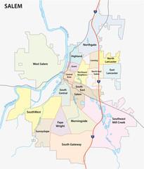 salem (oregon) road and neighborhood map