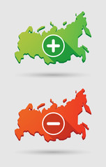 Russia map icon set