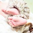 Newborn baby's legs