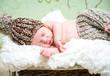 beautiful newborn baby boy sleeping