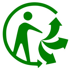 """Logo """"triman"""" Recyclable"""