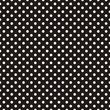 Tile vector pattern white polka dots on black background
