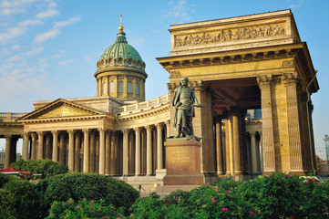 View of Kazan Cathedral, Saint Petersburg