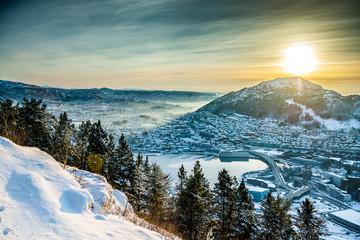 winter view on Bergen