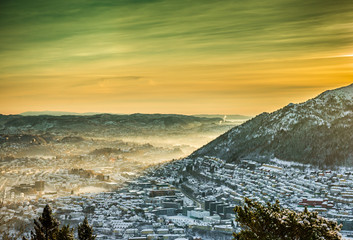 winter view on Bergen