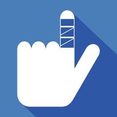 Logo blessure doigt.