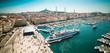 Leinwanddruck Bild - sea-port of Marseille