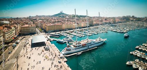 Leinwanddruck Bild sea-port of Marseille