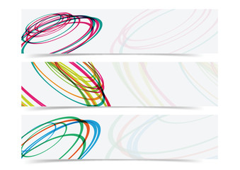 abstract curve circle banner header background